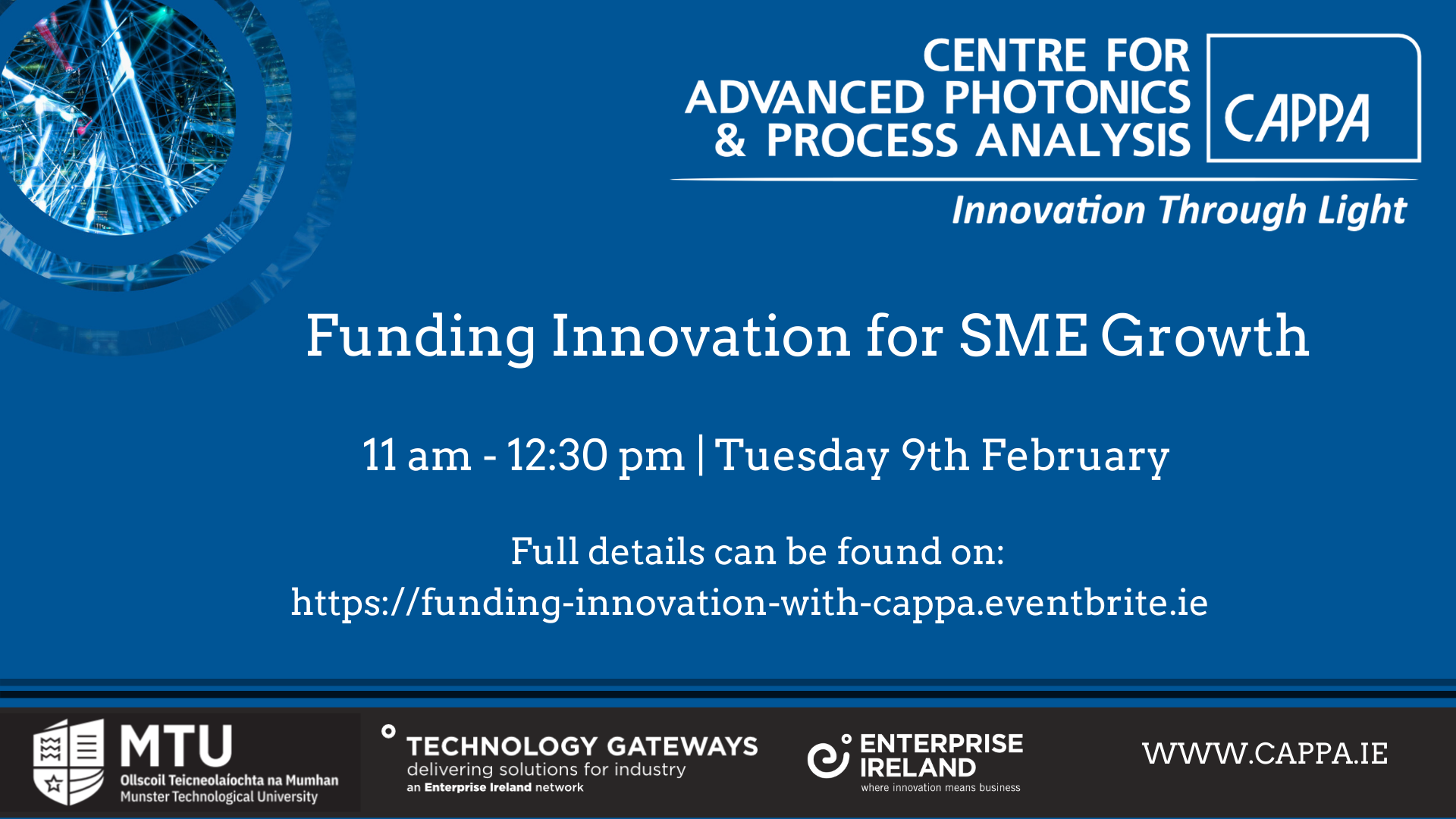 CAPPA Funding Innovation for SME Growth in association with the Hincks Centre - CAPPA