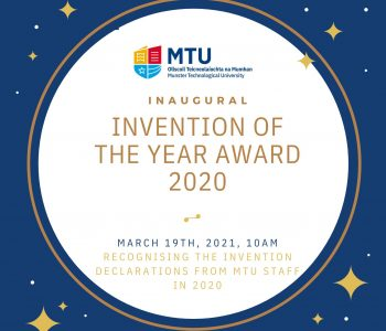 CAPPA Researcher Wins Inaugural MTU Invention of the Year 2021