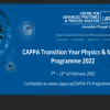 CAPPA TY Physics & Maths Programme 2022